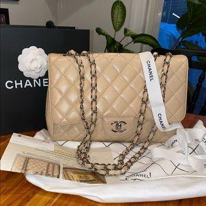 🥰Stunning Chanel Jumbo Beige Single Flap🥰